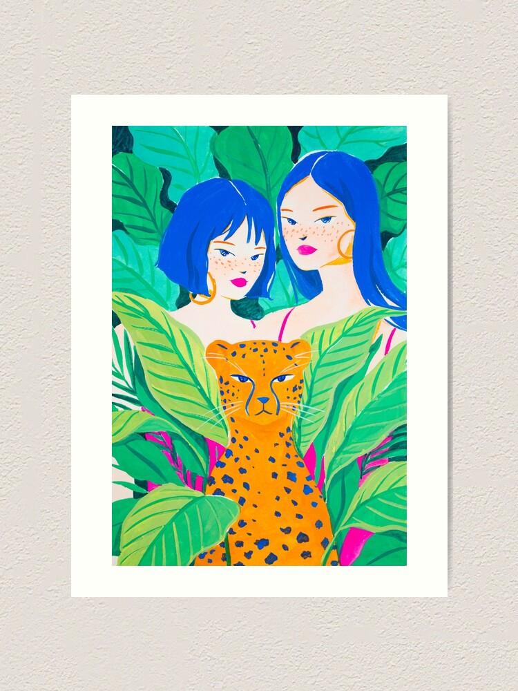 Alternate view of Jungle Friends Art Print