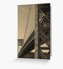 York to Jersey: The George Washington Bridge Greeting Card