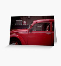 Old Red Beetle Greeting Card