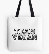 Team Vegan – Black Tote Bag