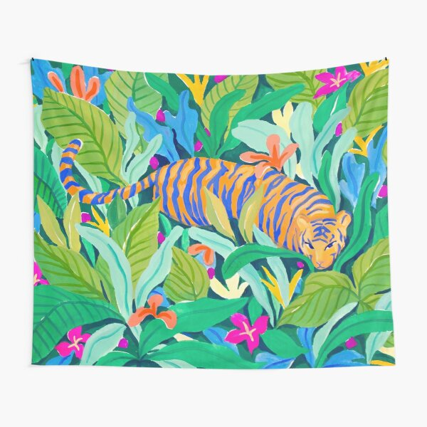 Colorful Jungle Tapestry