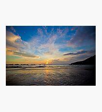 Beach sunset, Vung Tau, Vietnam Photographic Print