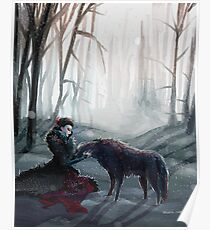 The Queen and the Wolf (Once Upon a Time) Poster