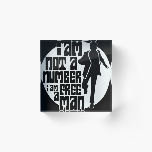 I am not a number Acrylic Block