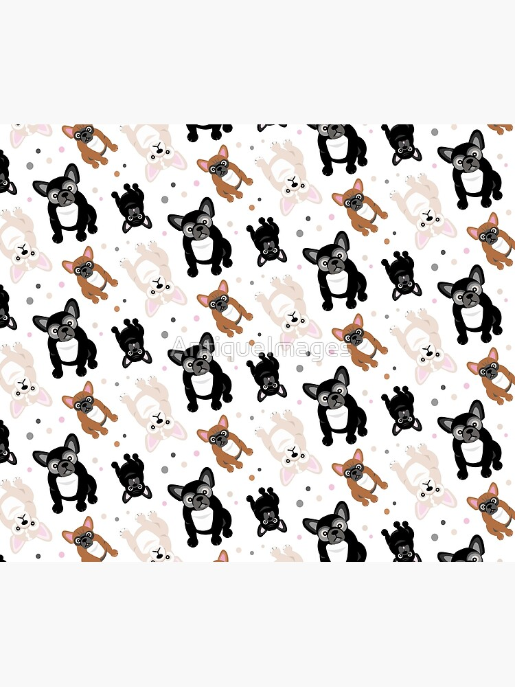 Cute Frenchies French Bulldog Pattern by AntiqueImages