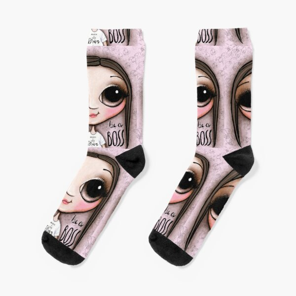 Child with big eyes who want to be a Boss Socks