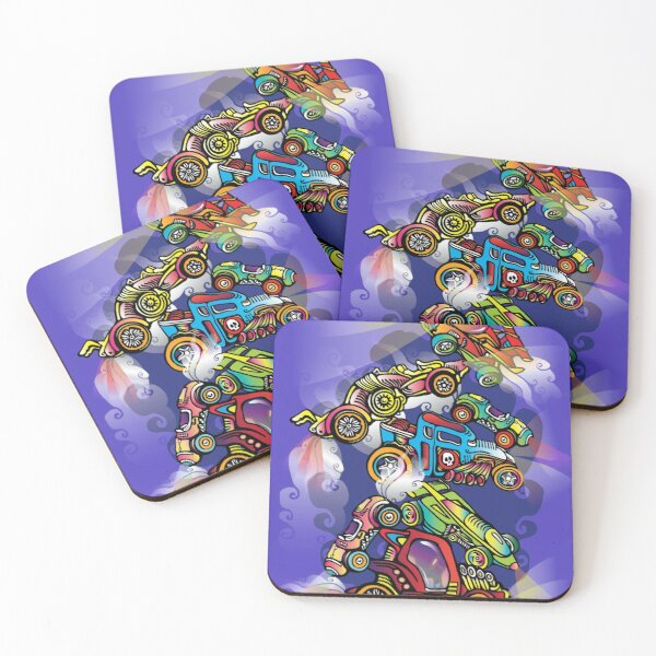 Toy Cars Coasters (Set of 4)