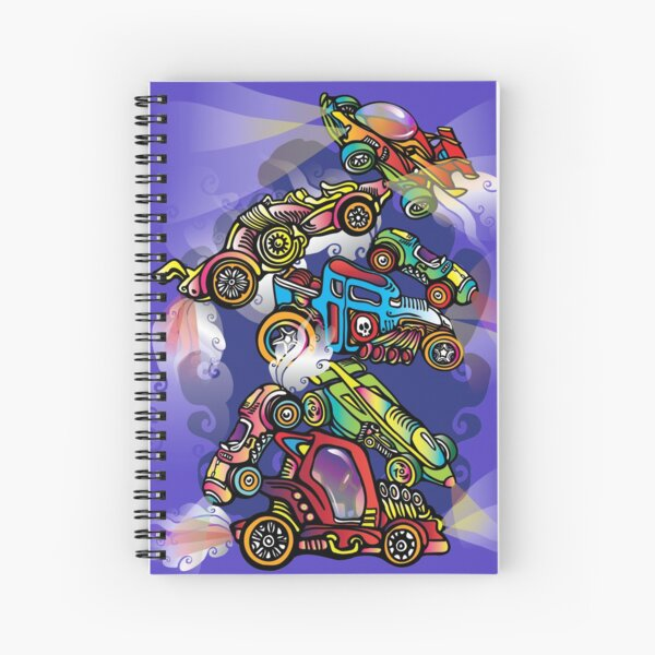 Toy Cars Spiral Notebook
