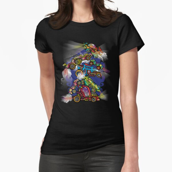 Toy Cars Fitted T-Shirt