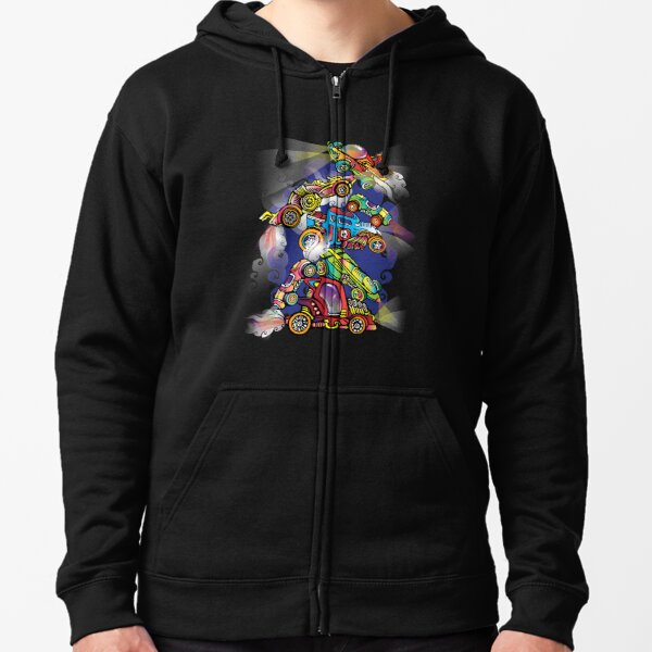 Toy Cars Zipped Hoodie