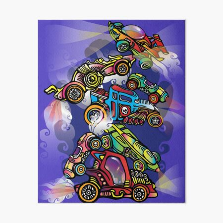 Toy Cars Art Board Print