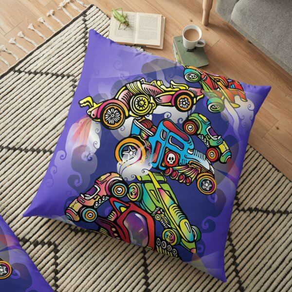 Toy Cars Floor Pillow