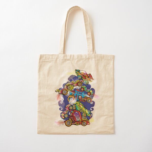 Toy Cars Cotton Tote Bag