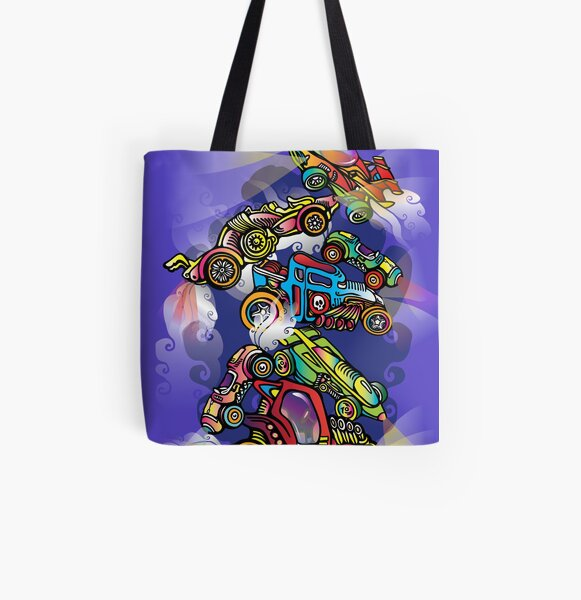 Toy Cars All Over Print Tote Bag