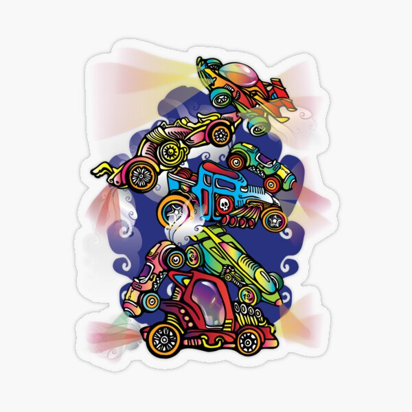 Toy Cars Transparent Sticker