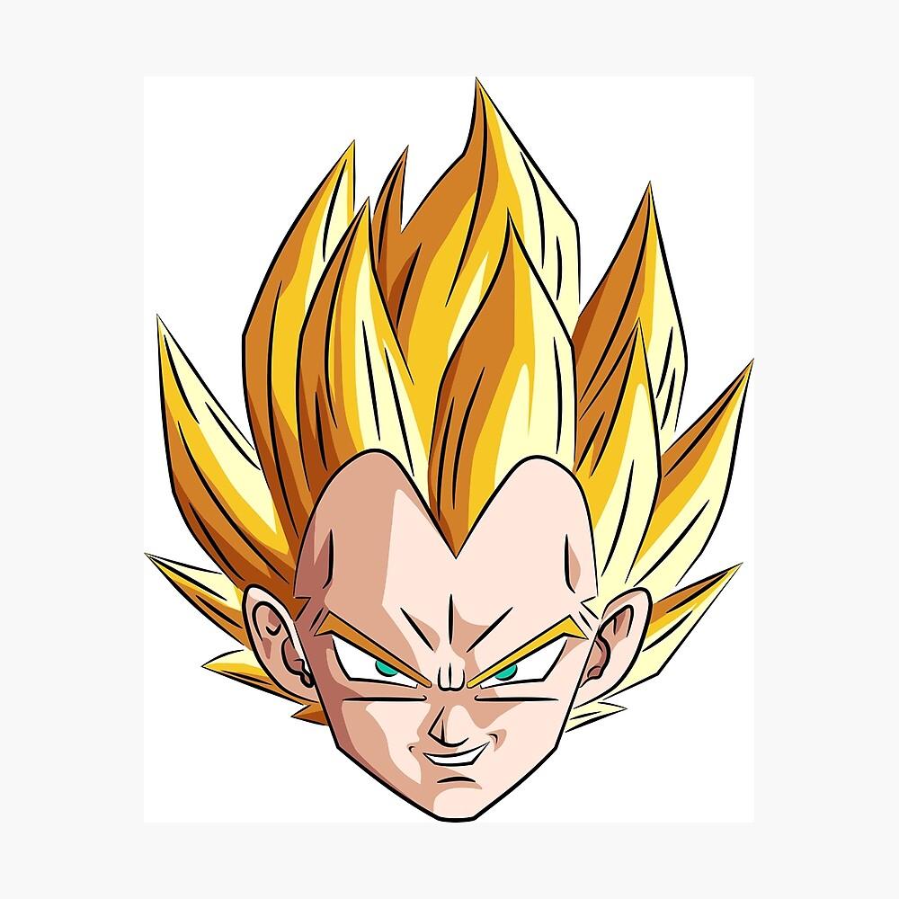 Vegeta Dragon Ball Z Character Face Metal Print By Moosman Redbubble