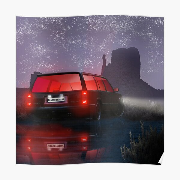 Volvo 740 Synthwave Art Poster