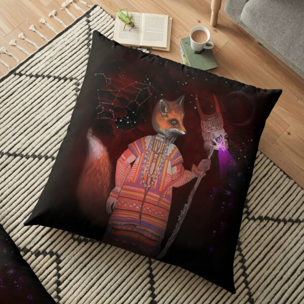 Vasilisa Fox Russian Folktale Floor Pillow
