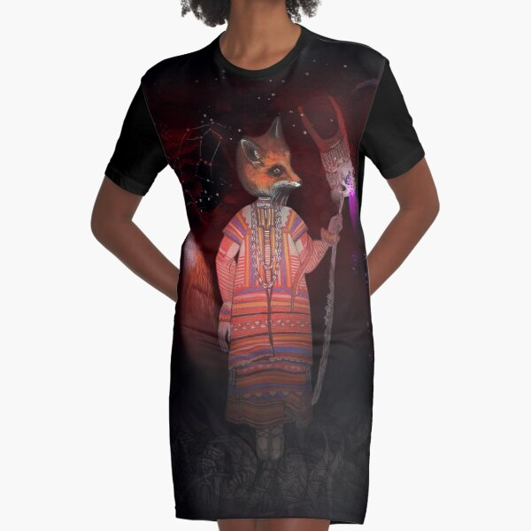 Vasilisa Fox Russian Folktale Graphic T-Shirt Dress