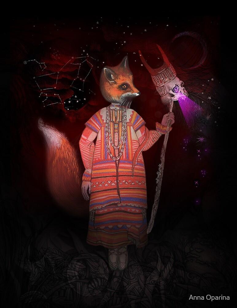 Vasilisa Fox Russian Folktale by Anna Oparina