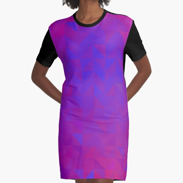 Neon Triangles Chaos Graphic T-Shirt Dress