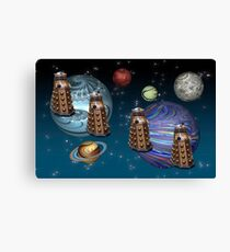 March Of The Daleks Canvas Print