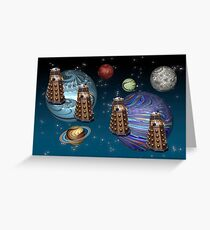 March Of The Daleks Greeting Card