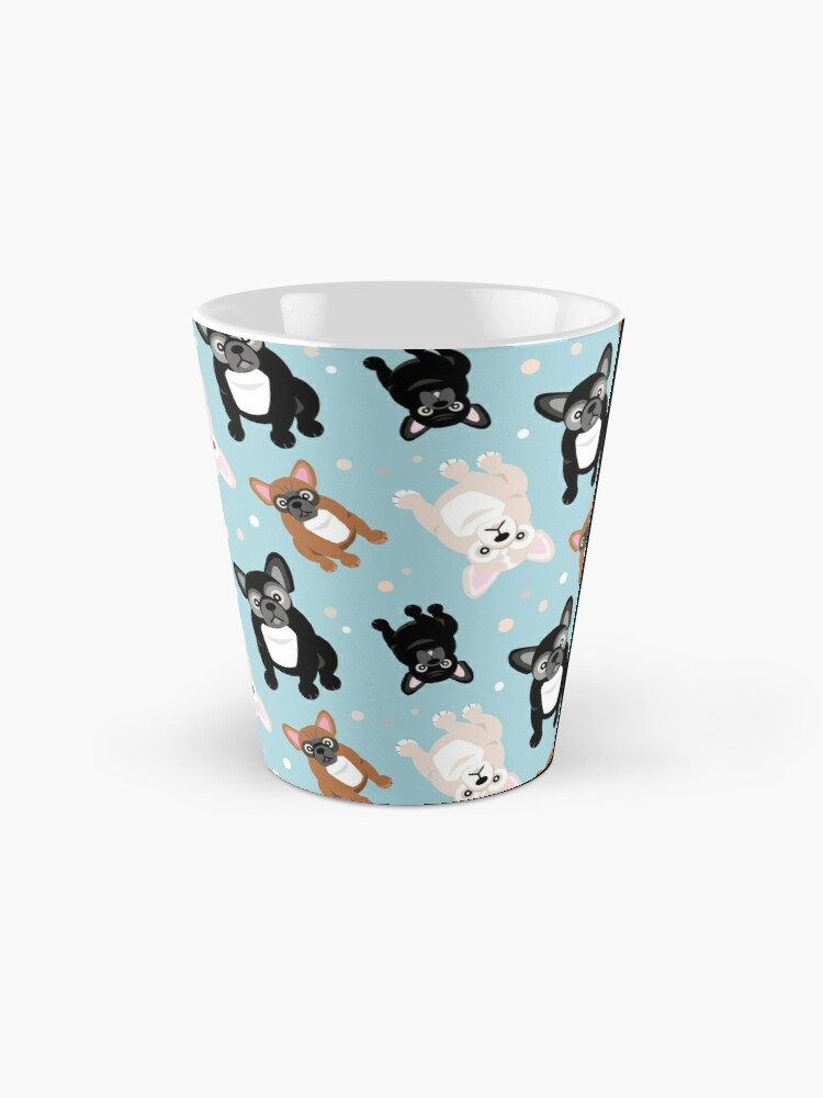 Alternate view of French Bulldogs Cute Frenchies Green Mug