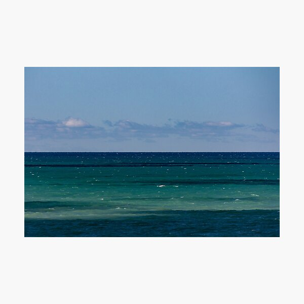 Calm Coloured Banded Water, Bayfield, Lake Huron Photographic Print