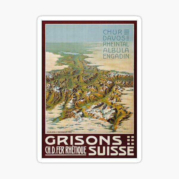 Original vintage poster SILS ENGADIN GRISONS LAKES ALPS