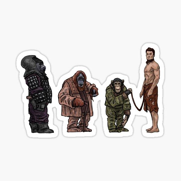 The New Retro Apes Sticker