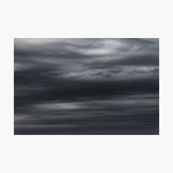 Cloudy Texture in the Sky, Lake Huron, Bayfield Photographic Print