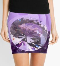 Lavender Diamond Mini Skirt