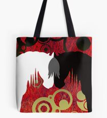 Imperial Yin & Yang Horses Tote Bag