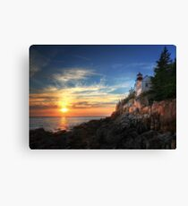 Sunset Glow - Bass Harbor Canvas Print