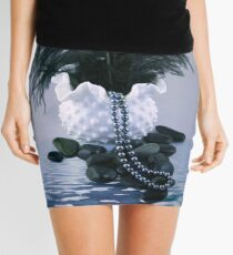 Feather and Pearls Mini Skirt