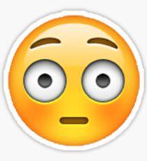 Embarrassed Emoji Sticker Sticker