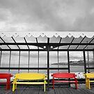 North Pier Benches Blackpool by Jon Bradbury
