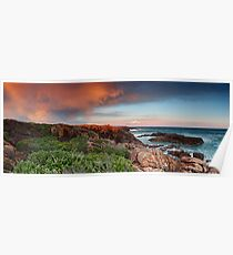 Boat Harbour Sunset - Panorama Poster