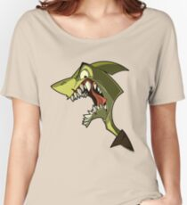 Angry green shark with shading Women's Relaxed Fit T-Shirt