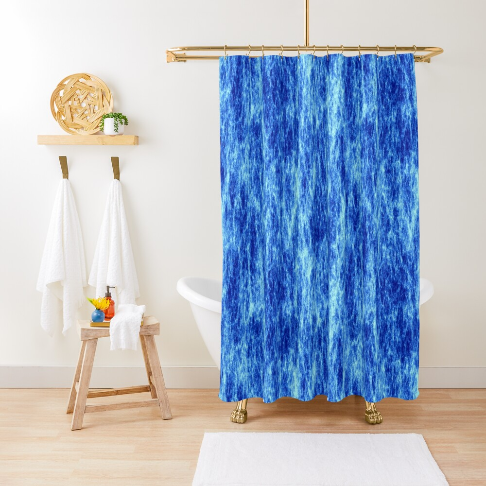 High voltage,blue energy. Shower Curtain