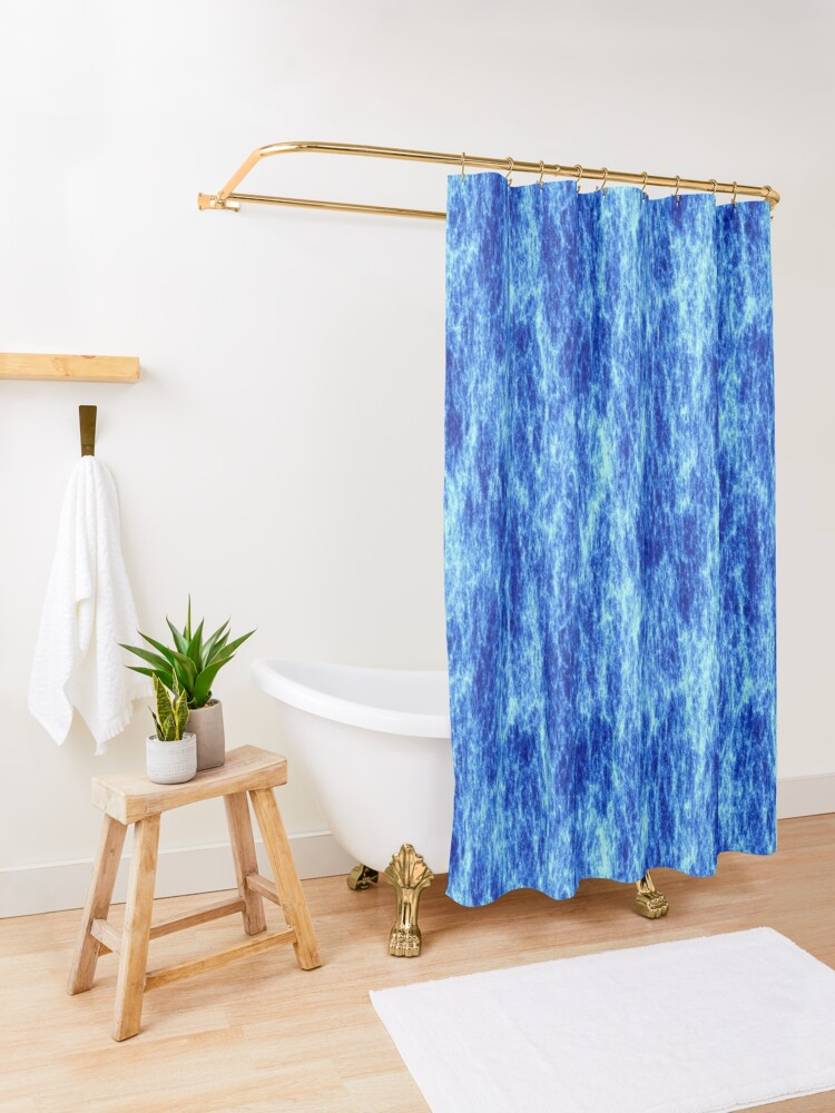 Alternate view of High voltage,blue energy. Shower Curtain