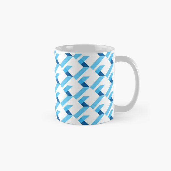 Flutter Official Logo. Repeatedly on white background. Classic Mug