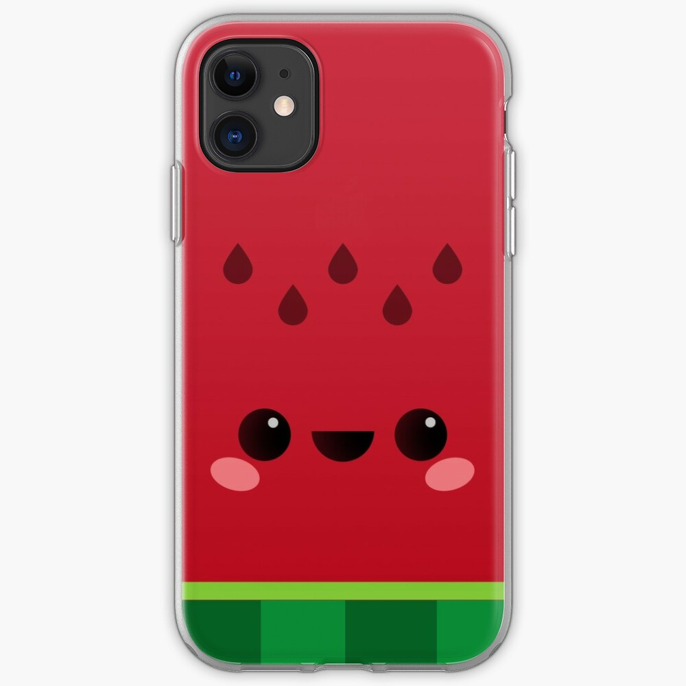 Wally the Kawaii Watermelon. So cute! iPhone Case & Cover