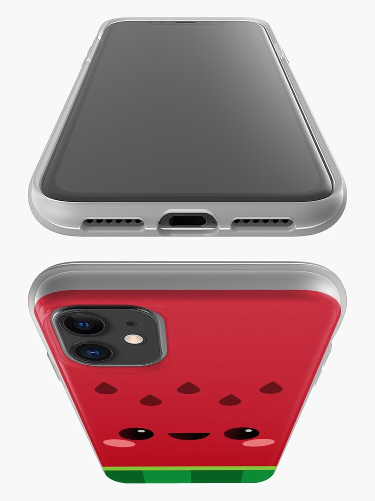 Alternate view of Wally the Kawaii Watermelon. So cute! iPhone Case & Cover