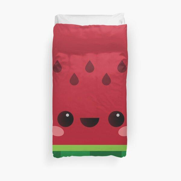 Wally the Kawaii Watermelon. So cute! Duvet Cover