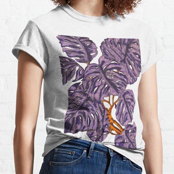 Monstera Purple Plant Classic T-Shirt