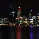 Perth CBD @ Night by harshcancerian