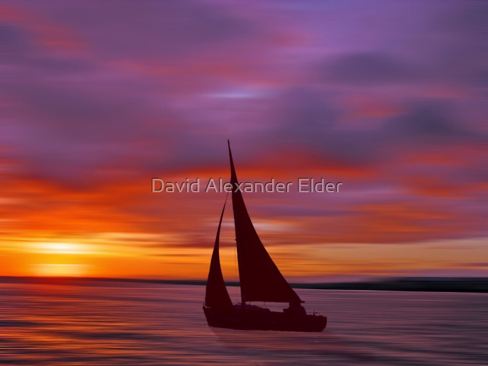 Sailing off into the Sun by David Alexander Elder
