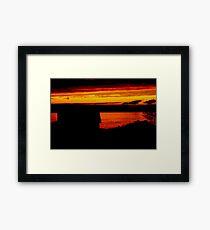Sunset. Framed Print